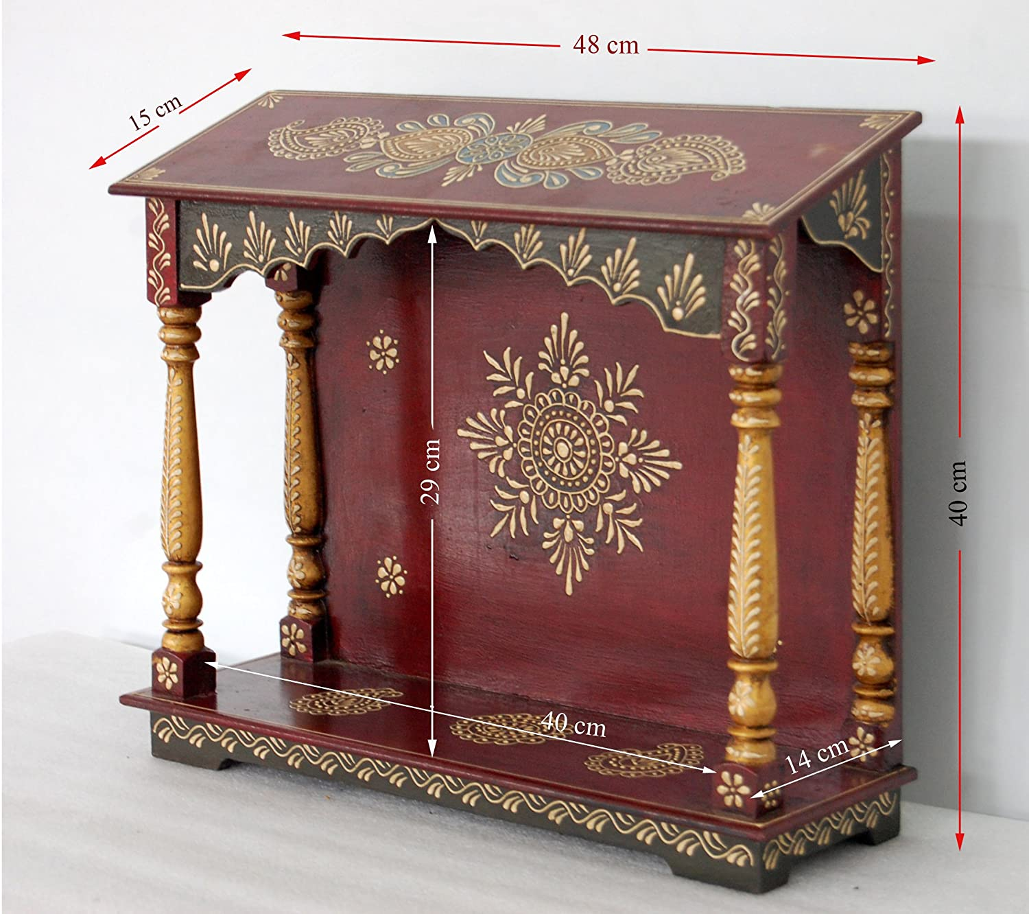 Buy DDass Small Pooja Mandir For Home Wooden Home Temple Pooja - Pooja mandir for home designs