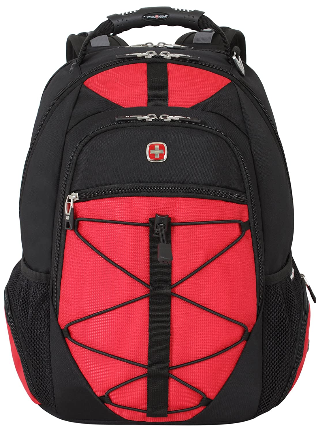 SwissGear TSA Friendly Backpack, Black/Red (6799201410)