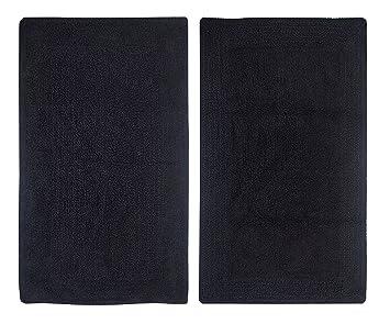 casalanas fontechiari utilisable des des deux c t s tapis de de bain robuste 100 coton. Black Bedroom Furniture Sets. Home Design Ideas