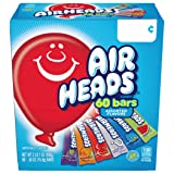 AirHeads Bars, Chewy Fruit Candy, Variety Pack, Non Melting, 60 Count (Packaging May Vary) (Color: Blue, Tamaño: Pack of 1)