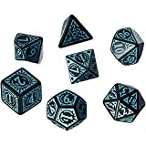 Q Workshop Pathfinder Iron Gods Dice Set (7 Piece) (Color: Black)