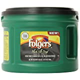 Folgers Decaf Black Silk, Dark Roast Ground Coffee, 20.6 Ounce (Tamaño: 20.6 Ounce)