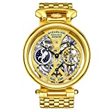 Stuhrling Original Men's 797.02 Legacy Analog Display Automatic Self Wind Gold Watch (Color: Gold tone, Tamaño: Standard)
