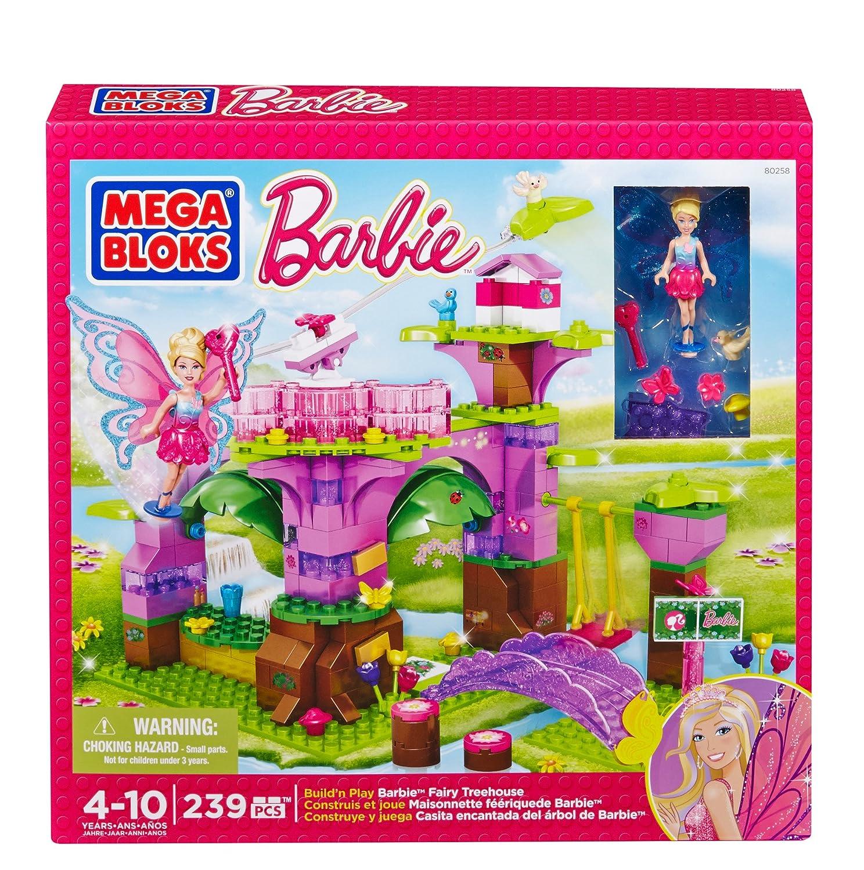 Mega Bloks 80258 – Barbie Märchenwald Baumhaus als Geschenk
