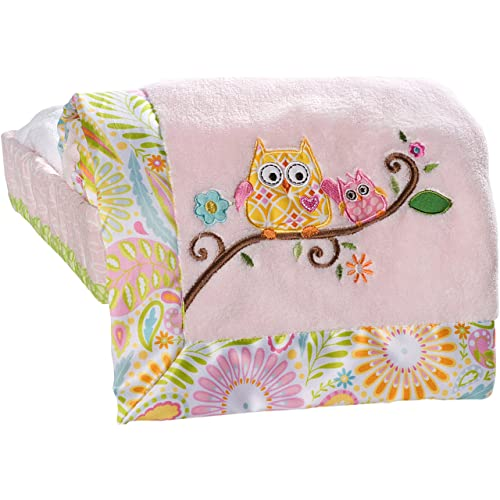 Kids Line Dena Happi Tree Embroidered Boa Blanket Pink (Discontinued by Manufacturer)
