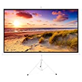Best Choice Products 100in Portable 16:9 Projection Screen w/ 87x49in Foldable Stand, 1.3 Gain - White