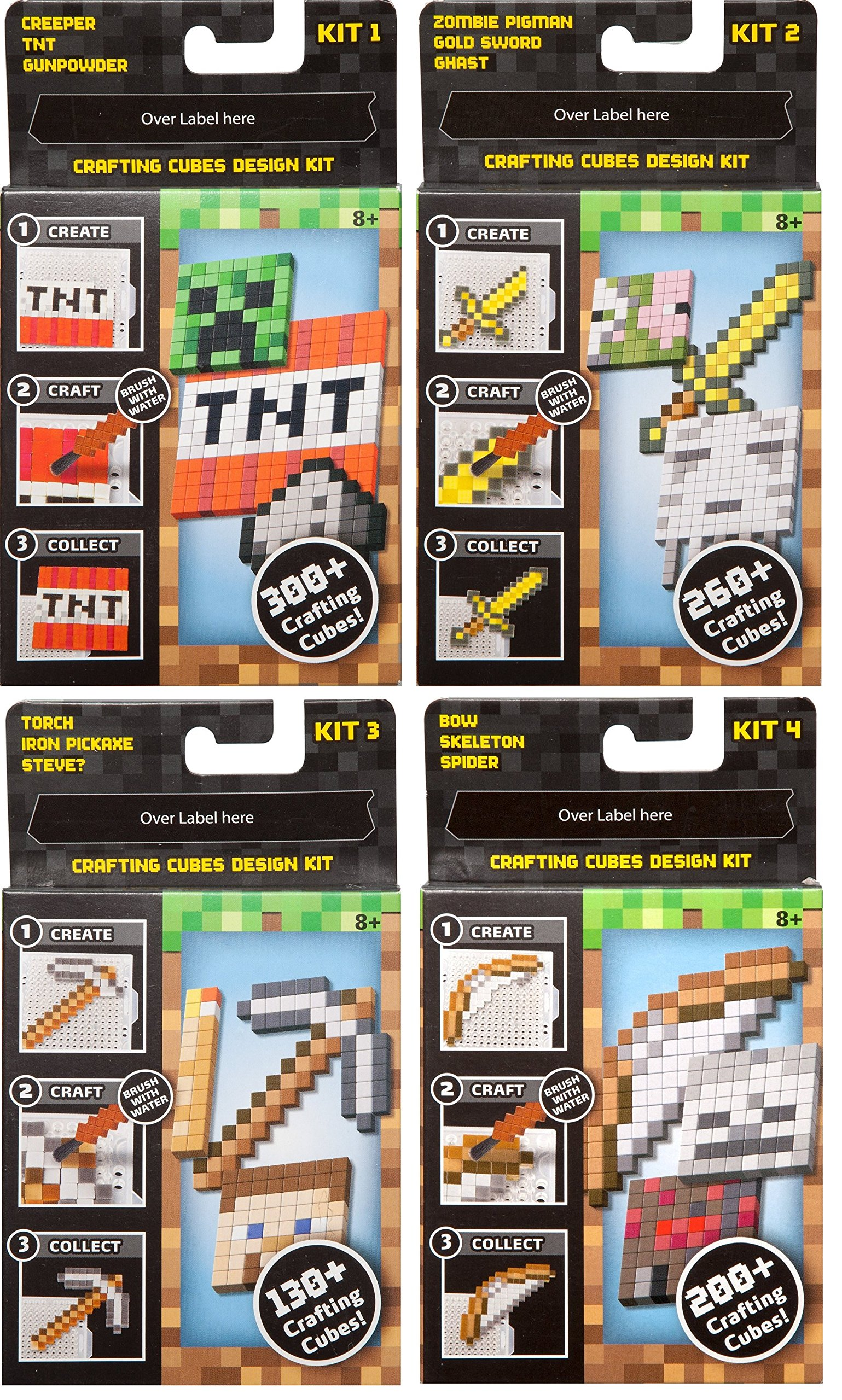 minecraft crafting. Minecraft Crafting Table Refill Collection (4 Packs), With FREE 2-day Domestic Shipping!