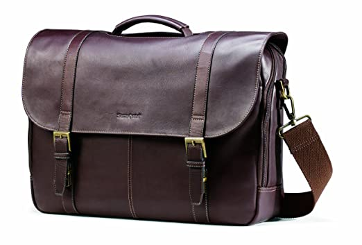 Leather Flapover Briefcase