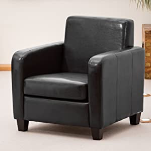 Brand New 1 Seat Sofa/Armchair in Faux Leather (Black)       Customer reviews and more description