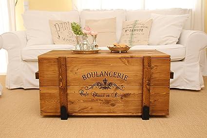 Contenitore in legno, stile: shabby chic vintage, colore: marrone.