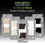 GE Enbrighten Z-Wave Plus Smart Motion Light Switch, Compatible with Alexa, Google Assistant, SmartThings, Wink, Zwave Hub Required, Repeater/Range Extender, 3-Way Compatible, Brown, 35927 (Color: Dark Brown, Tamaño: Switch)