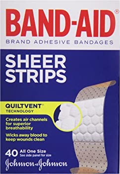 40-Count BAND-AID Sheer Strips Adhesive Bandages