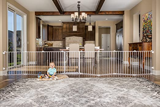 baby gate around entertainment center 1