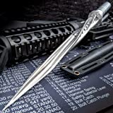 K EXCLUSIVE Grey Titanium Spiral Dagger with Sheath - Stainless Steel Construction, Quad-Edged Blade, Hidden Compartment - Length 16 1/2