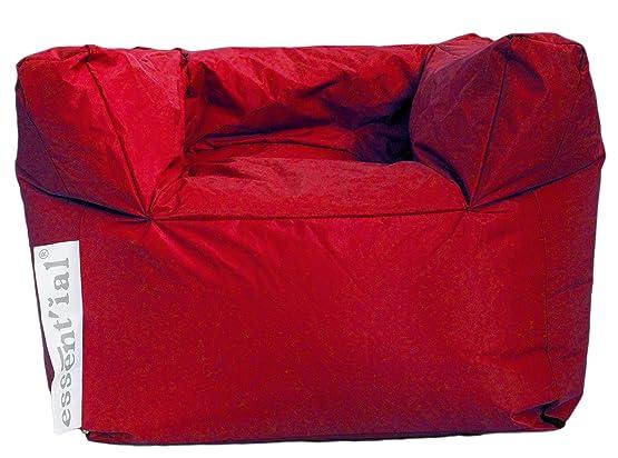 Essential ES001082 Poltrona, Rosso Colore Piena