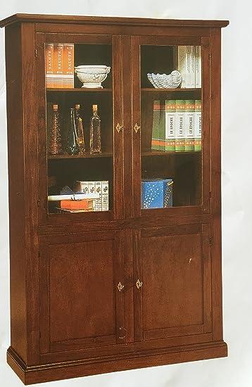 Libreria classica 4 ante arte povera vetrina classica