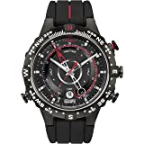 Timex Men's T2N720 Intelligent Quartz Tide Temp Compass Black Silicone Strap Watch (Color: Black, Tamaño: One Size)