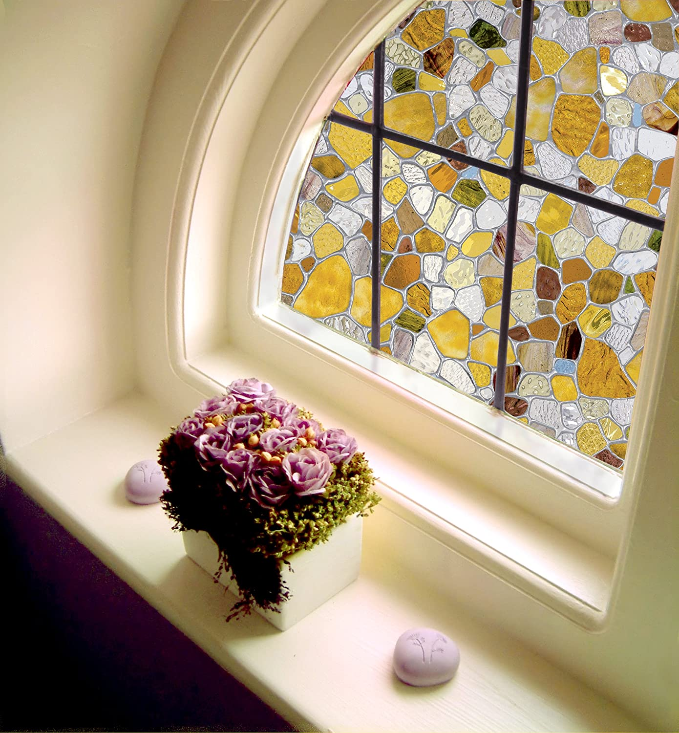 First stained glass window film 24 by 36 inches new for Victorian stained glass window film