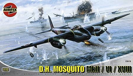 Airfix - A03019 - Construction et Maquettes - Bâtiment - De Havilland DH-98 Mosquito Fb.VI/ Nf.II/ Mk XVIII
