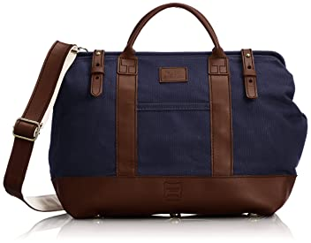 Heritage Leather Company Mason Bag 7726: Navy / Brown