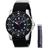 Victorinox Men's 241674.1 Analog Display Swiss Quartz Black Watch (Color: Black/Nylon)
