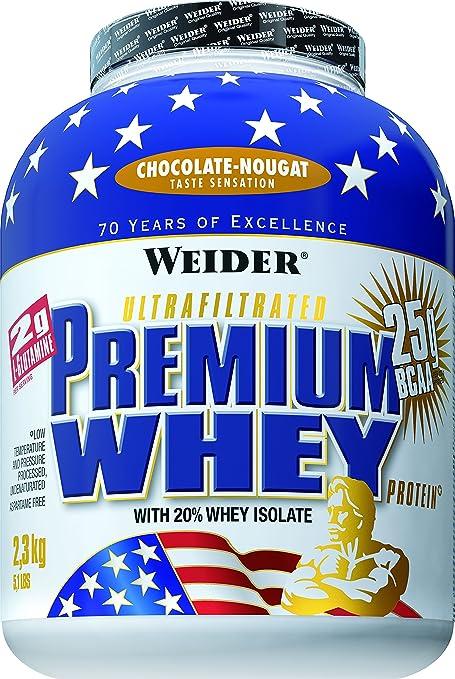 Weider Premium Whey Protein, Schoko - Nougat, 2300g Beutel
