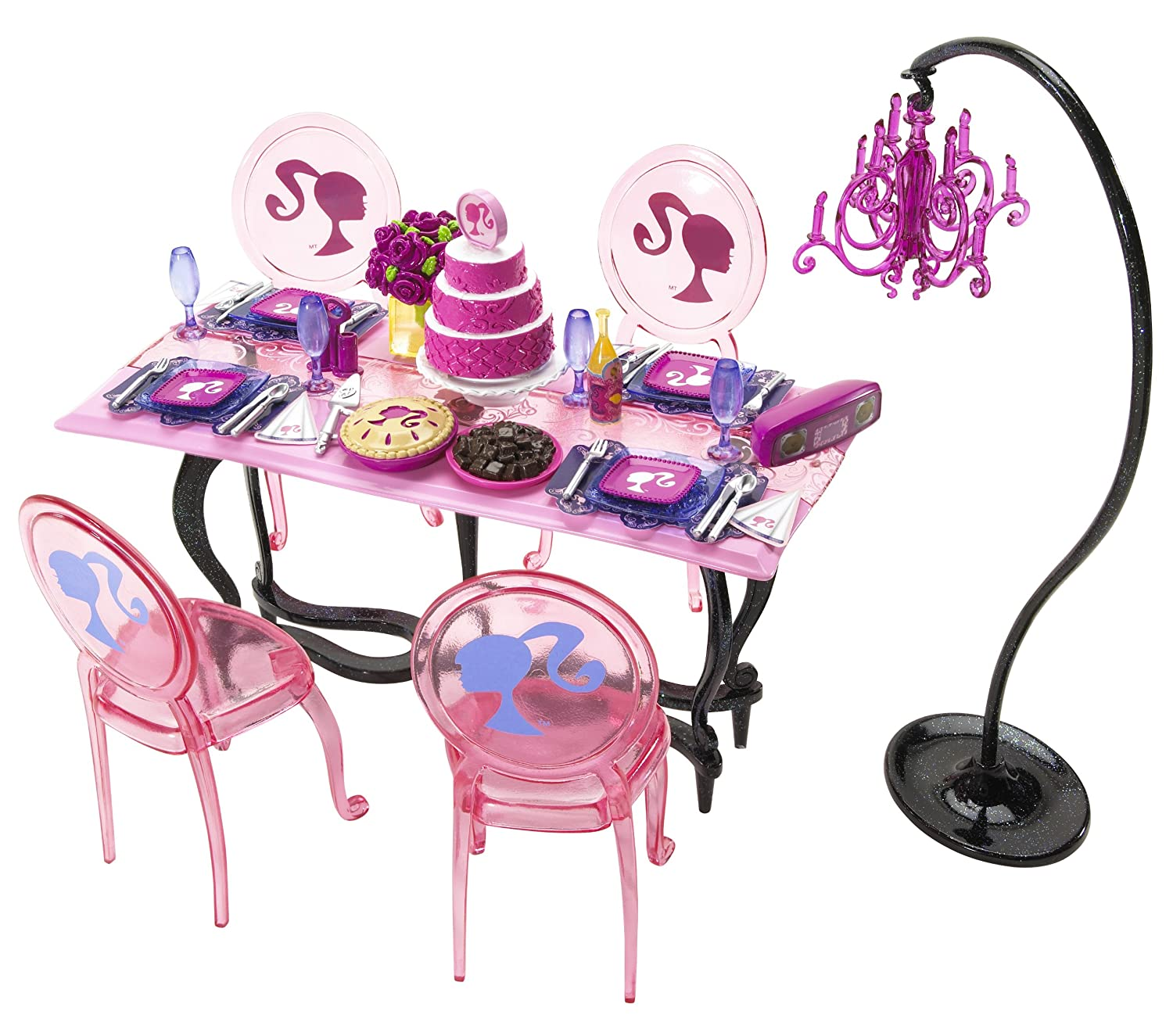 Barbie Pink Dining Room Furniture