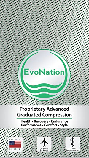 EvoNation Women's USA Made Graduated Compression Pantyhose 20-30 mmHg Firm Pressure Medical Quality Ladies Waist High Sheer Support Stockings - Best Circulation Panty Hose (Large, Tan Beige Nude) (Color: Nude, Tamaño: Large)