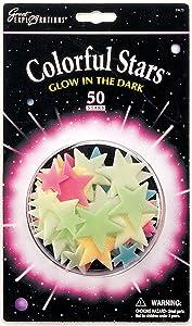 University Games 29008 - Pack de estrellas luminiscentes decorativas de colores   revisión