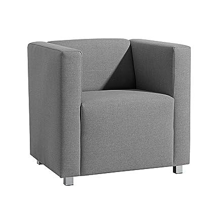 Max Winzer 25392-1100-1645216 kubischer-/Lounge Sessel Corrado, Leinenoptik, grau