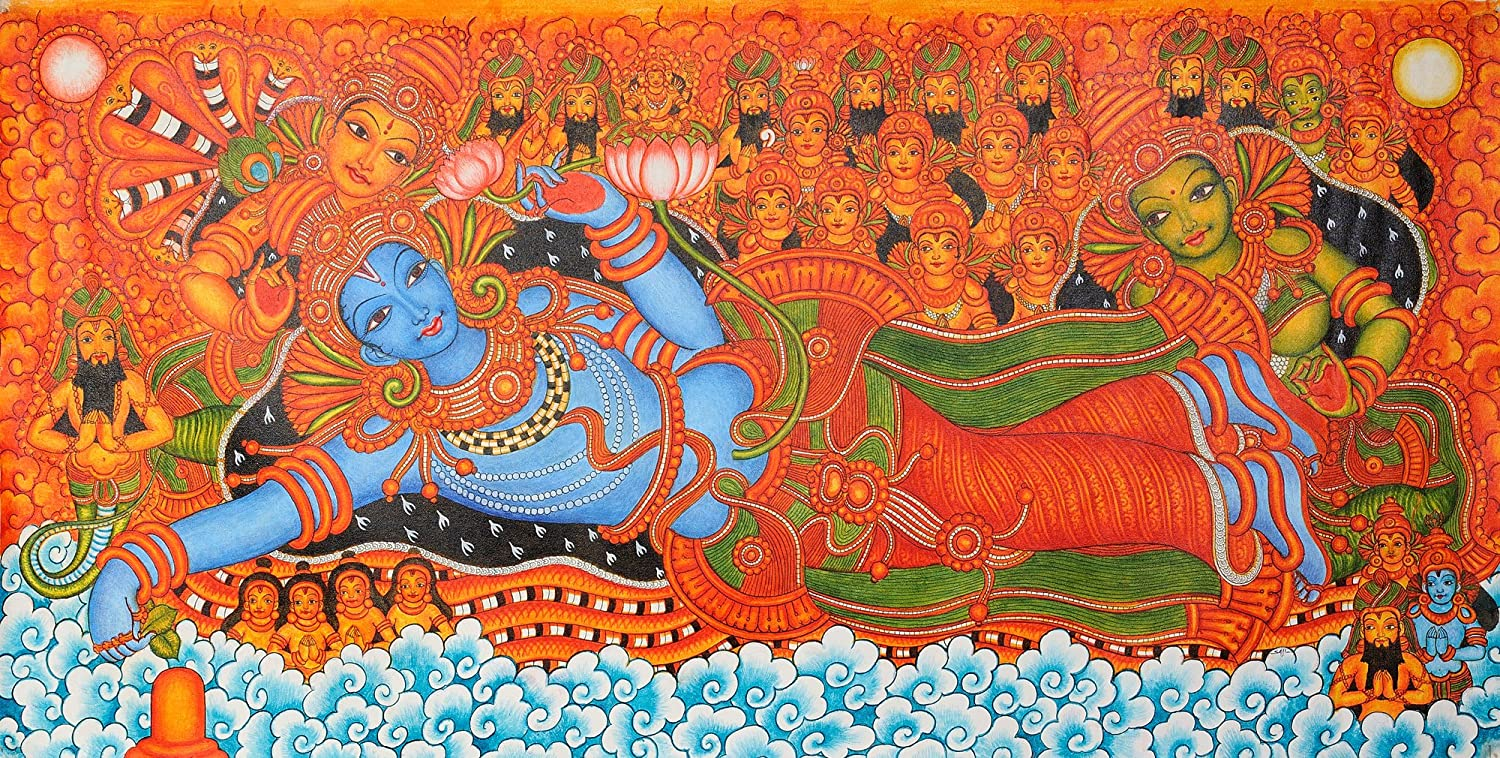 The gallery for kerala mural painting designs free for Mural designs