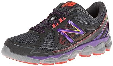 New Balance Women's W750v3 Running Shoe,Grey/Purple,6 B US