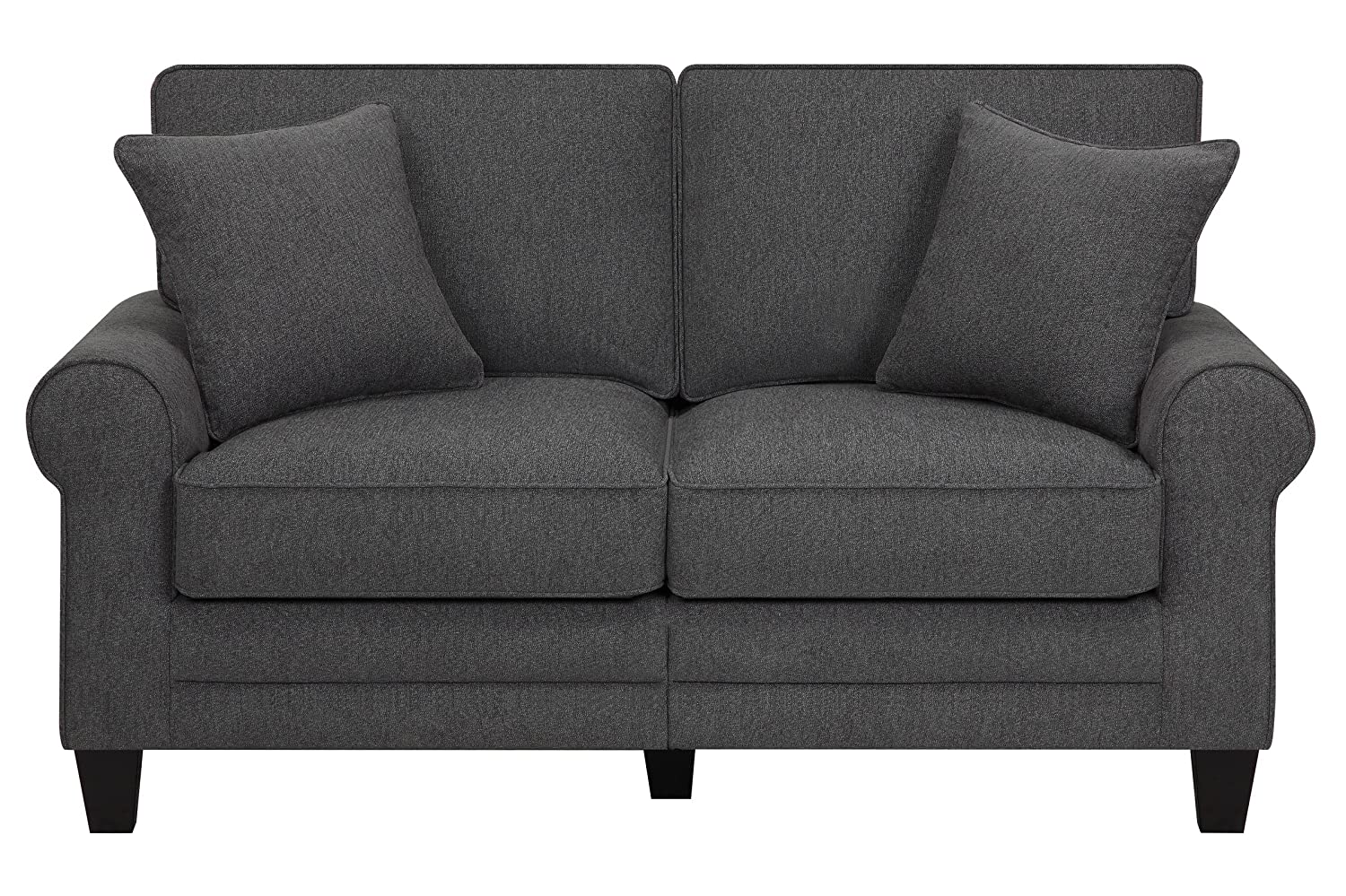 Serta® RTA Copenhagen Collection 61 Loveseat in Steeple Gray - CR46219PB