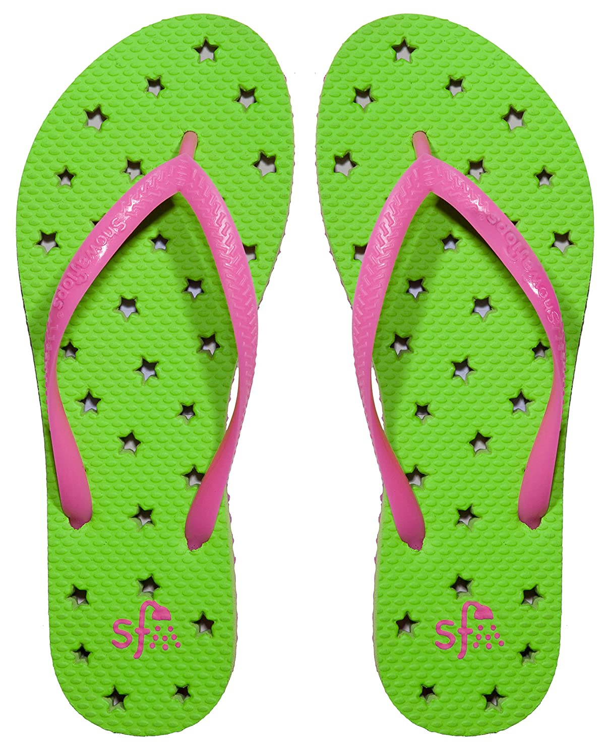 Showaflops Girl's Antimicrobial Shower & Water Sandals - Stars antimicrobial contaminant elimination from water and waste sludge