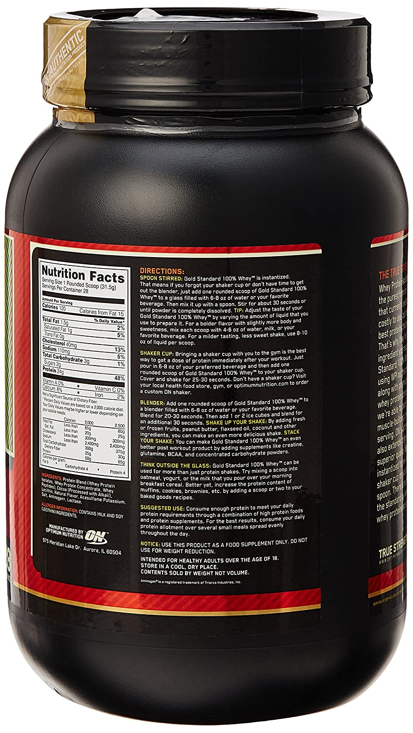 ON Whey Gold Standard - 2 lb Chocolate Mint