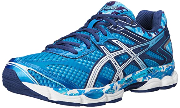 asics gel cumulus 16 mens blue white