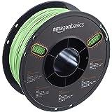AmazonBasics PLA 3D Printer Filament, 1.75mm, Neon Green, 1 kg Spool (Color: Neon Green, Tamaño: 1.75mm)