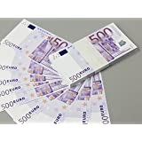 Euro €500 Full Print Double Sided Prop Money Stack for Movie, TV, Videos, Advertising & Novelty