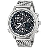 Citizen Eco-Drive Men's JY8030-83E Navihawk A-T Analog Display Silver Watch (Color: Silver Tone Stainless Steel)