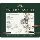 Faber-Castel 21 Piece Pitt Monochrome Tin Set (Color: Brown, Tamaño: 21 Piece)