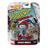 Hot Wheels Spider-Mobile Vehicle, 1:64 Scale (Tamaño: 1:64 Scale)
