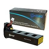 Genuine Contixo Rechargeable LiPo Battery - 7.4V 2100mAh LiPo Battery for Contixo F18 Quadcopter Drone (1-Pack) (Color: Black, Tamaño: F18 Battery (1-Pack))