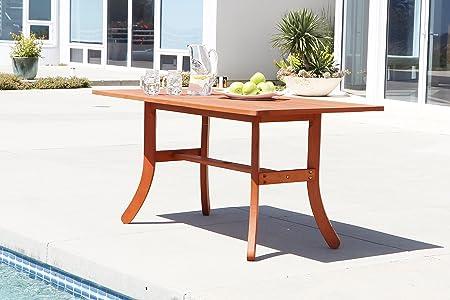Vifah Malibu Eco-Friendly Tavolo, Natural Wood, 78.739999999999995 x 149.86000000000001 x 74 cm