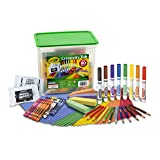 Crayola Creativity Tub, Over 80 Art Tools, Crayons, Markers, Colored Pencils Construction Paper and More, Makes a Great Gift (Color: Multi, Tamaño: 1-Pack)