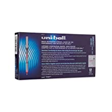 uni-ball Vision Stick Micro Point Roller Ball Pens, 12 Red Ink Pens (60117)