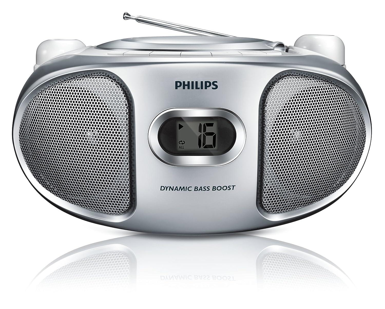 Radio Lecteur K7 CD et MP3 PHILIPS AZ105S GRIS