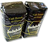 Induban Gourmet Whole Roasted Bean Dominican Coffee 2 Bags / Pounds Pack