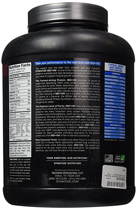 Dymatize ISO 100 Hydrolyzed - 5 lb Strawberry