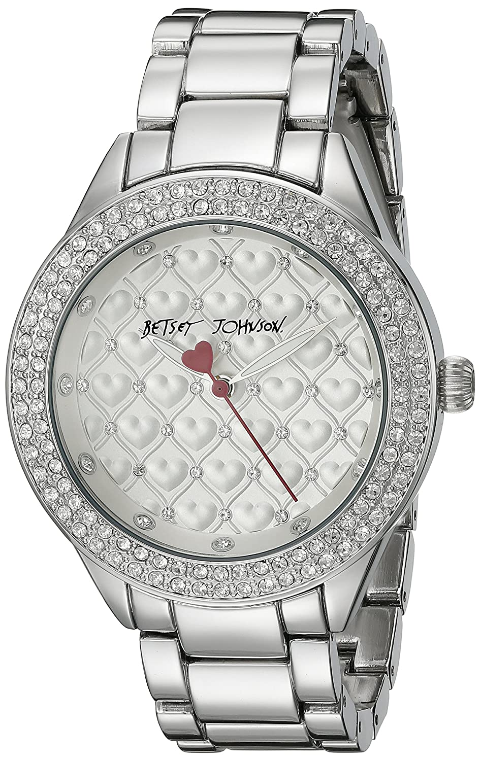 Betsey Johnson Women's BJ00467-11 Analog Display Quartz Silver Watch