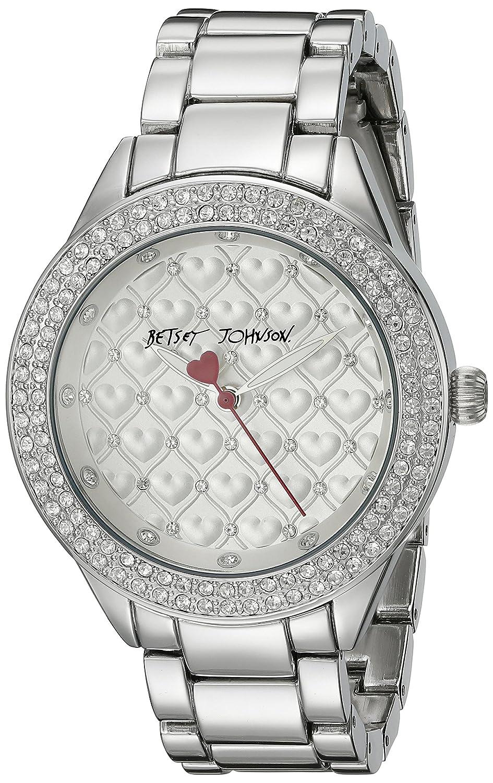 Betsey Johnson Women's BJ00467-11 Analog Display Quartz Silver Watch